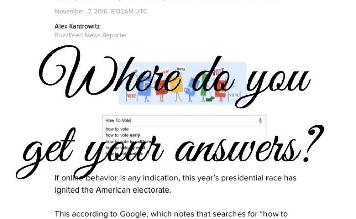 Where Do You Go For Answers?